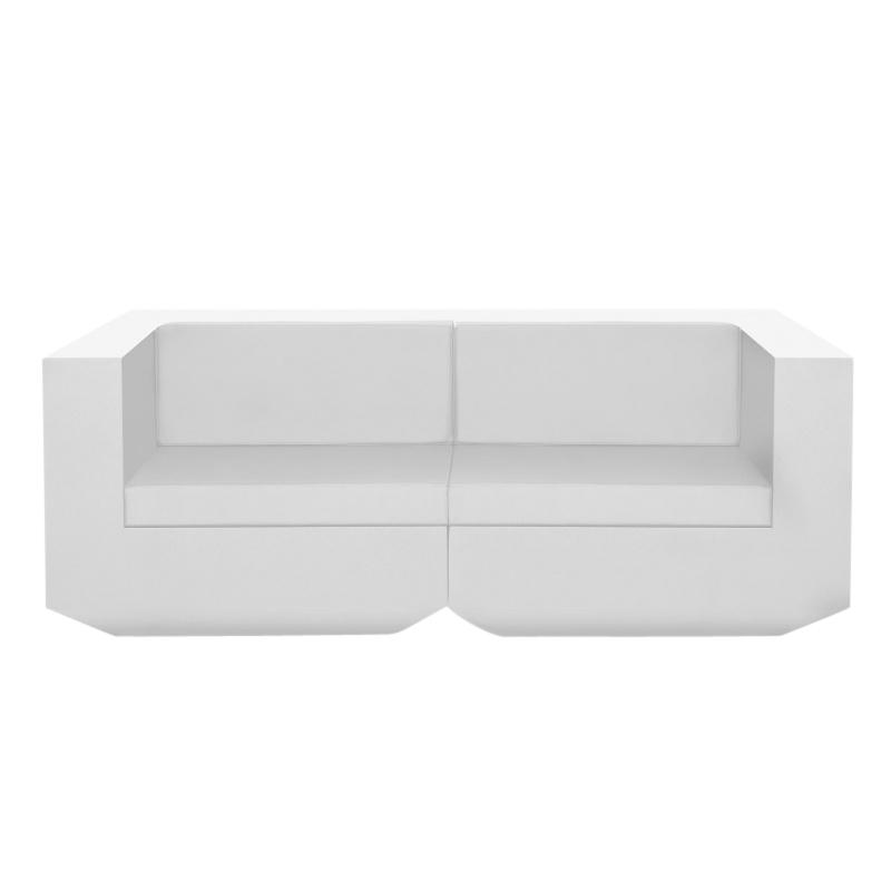 Vondom - Vela - Sofa 2-Seater - blanc/mat