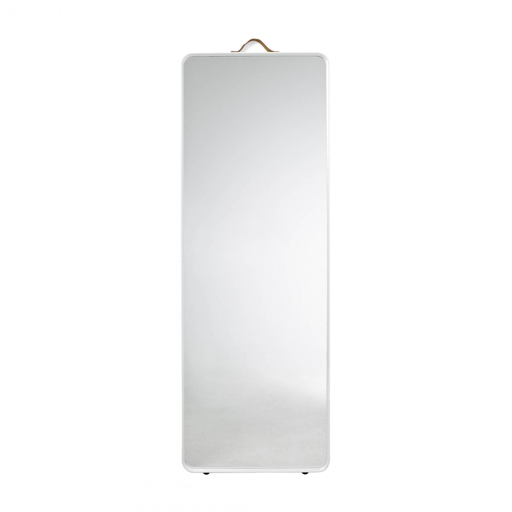 Menu - Norm Floor Mirror Standspiegel - weiß/pulverbeschichtet/HxBxT 170x60x3|5cm | Flur & Diele > Spiegel > Standspiegel | Weiß | Aluminium| spiegelglas| leder | Menu
