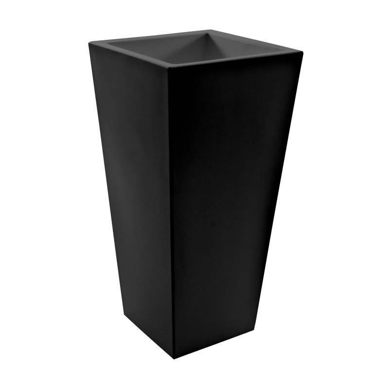 Serralunga - Kabin High Blumentopf 70x35cm - schwarz/Kunststoff/LxBxH 35x35x70cm | Garten > Pflanzen > Blumentöpfe | Serralunga