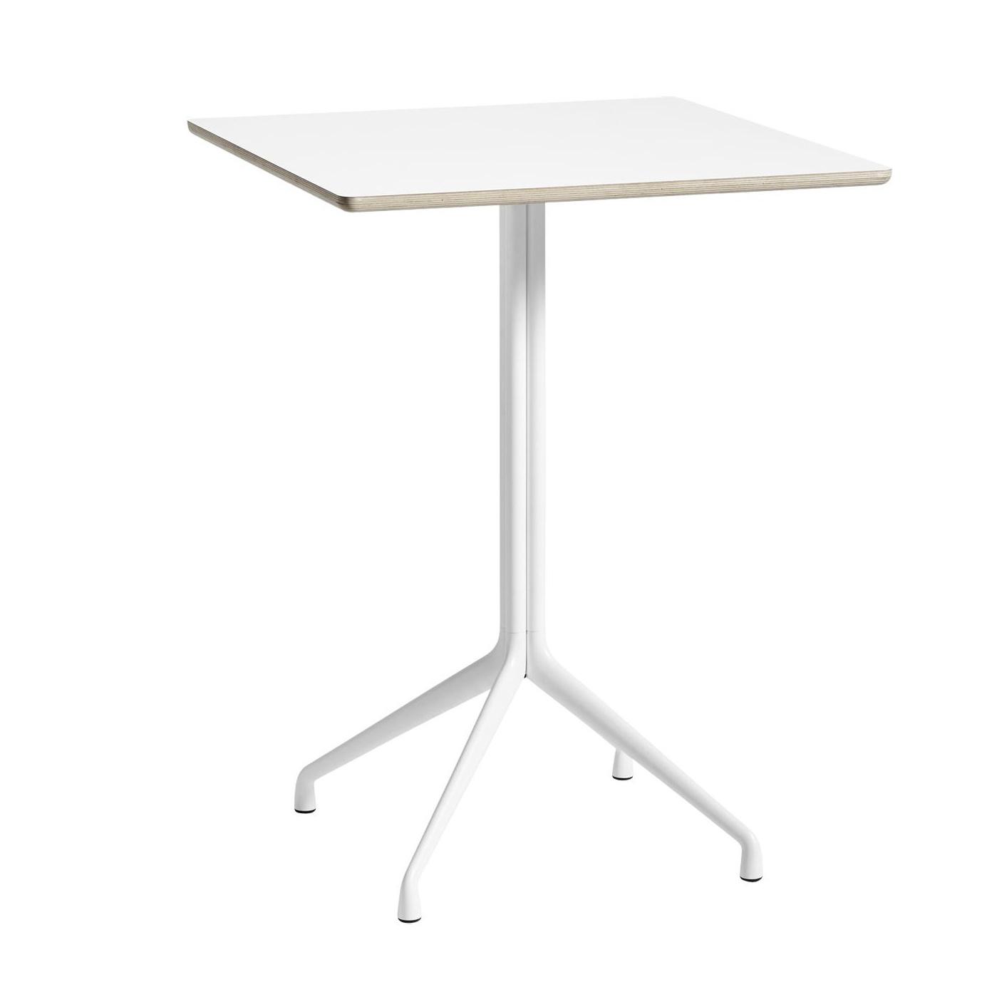 HAY - About a Table AAT15 Stehtisch 80x80cm - weiß/Tischplatte Laminat/Kante holzfarben/H 105cm   Baumarkt > Bodenbeläge > Laminat   HAY