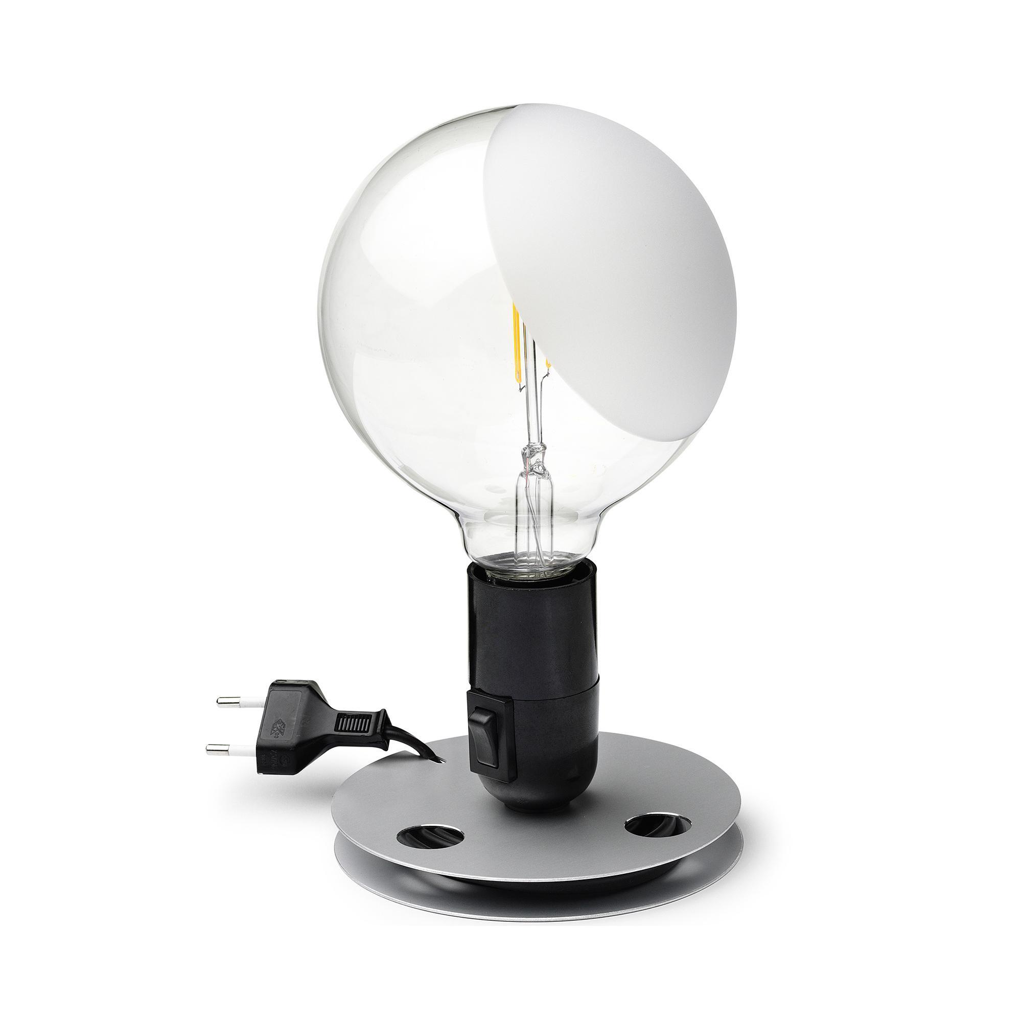 Flos - Lampadina - schwarz/Aluminium | Schlafzimmer > Nachttische | Schwarz | Aluminium | Flos