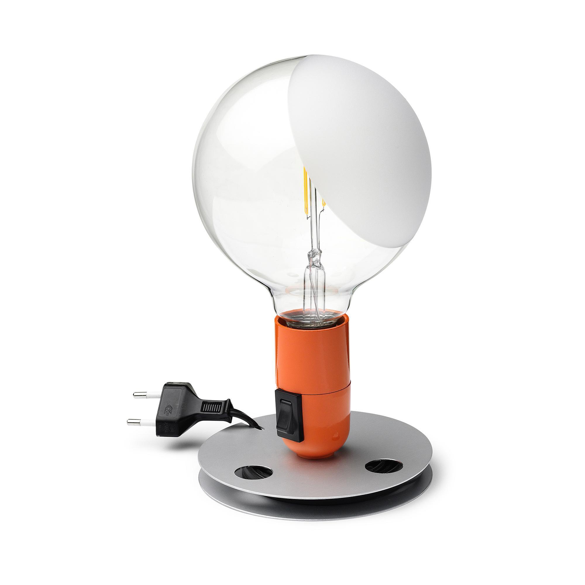 Flos - Lampadina - orange/Aluminium | Schlafzimmer > Nachttische | Orange | Aluminium | Flos