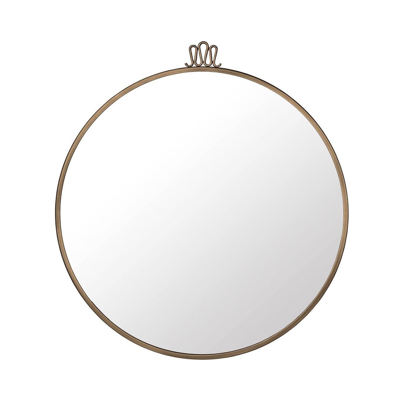 Gubi - Gio Ponti Randaccio Wandspiegel Ø70cm - messing/Ø70cm | Flur & Diele > Spiegel > Wandspiegel | Messing | Spiegelglass| messing | Gubi