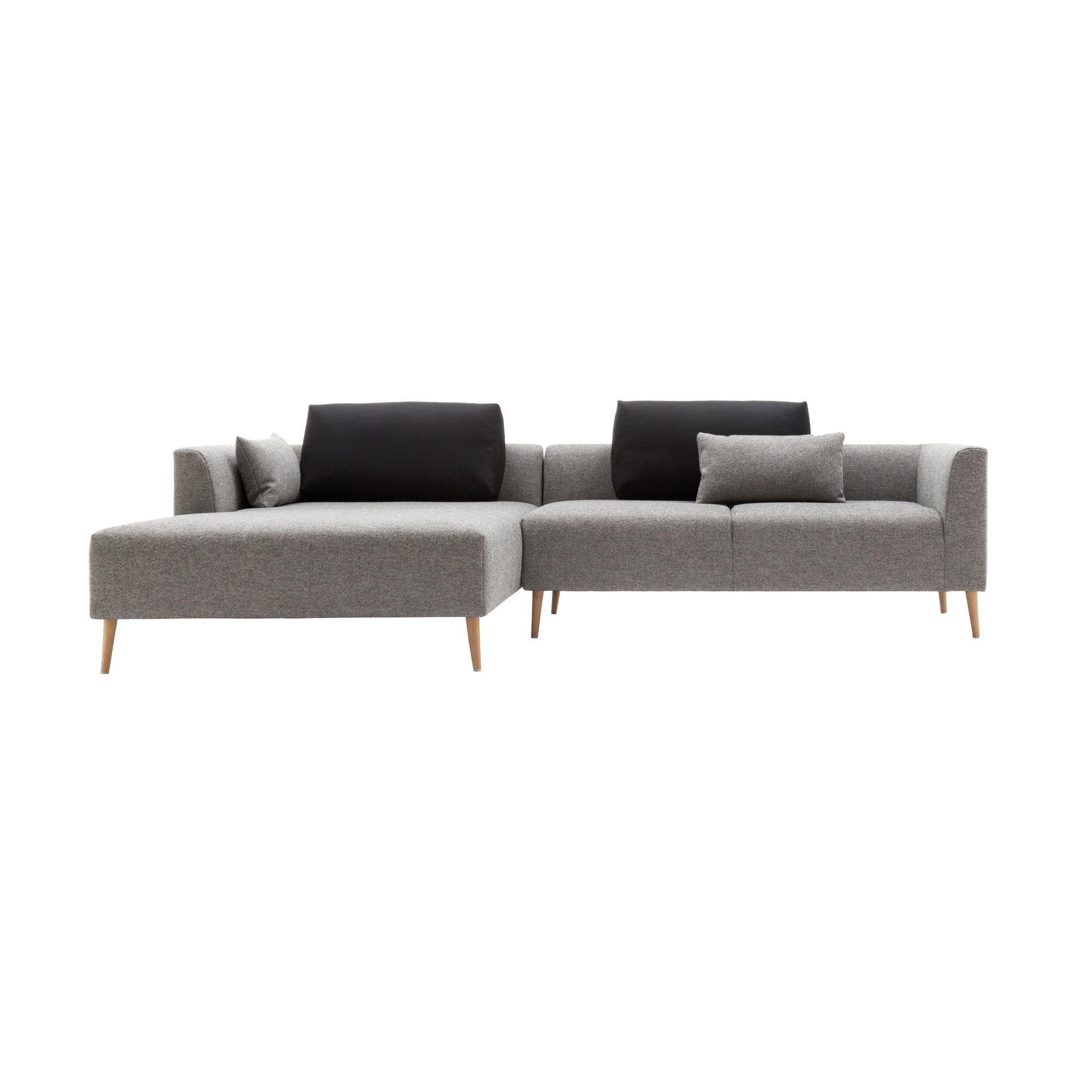 freistil Rolf Benz - freistil 162 - Canapé lounge 274x172cm - gris argenté/étoffe 7405 100% laine vierge/PxHxP 274x64x172cm