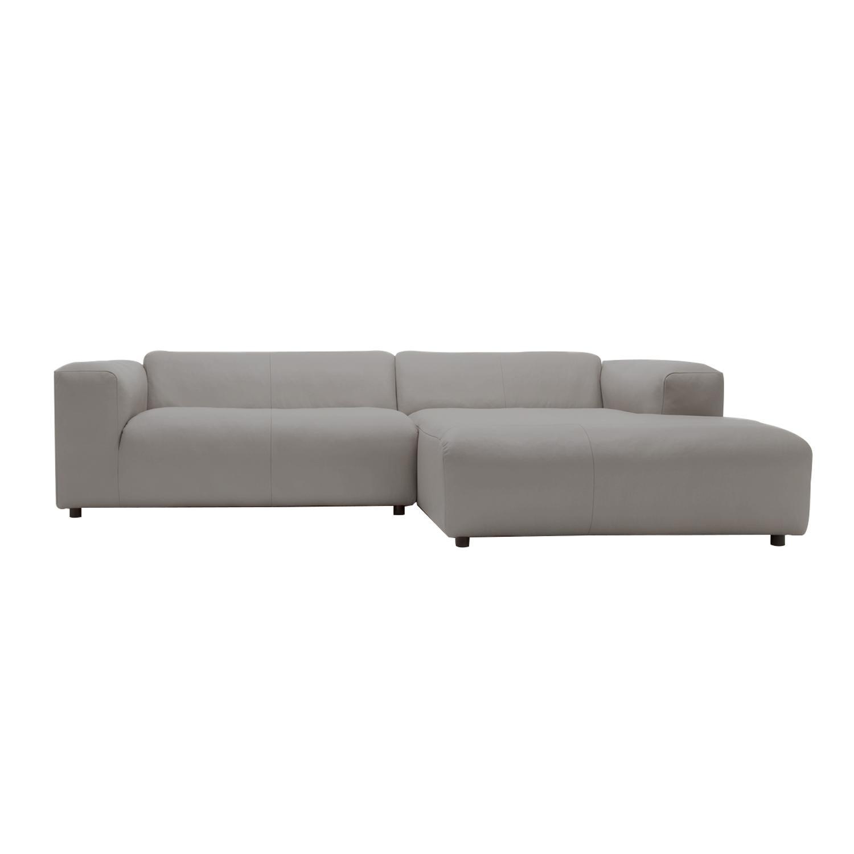 freistil Rolf Benz - freistil 187 - Canapé lounge 260x185cm - gris argenté/étoffe 4020/PxHxP 260x67x185cm
