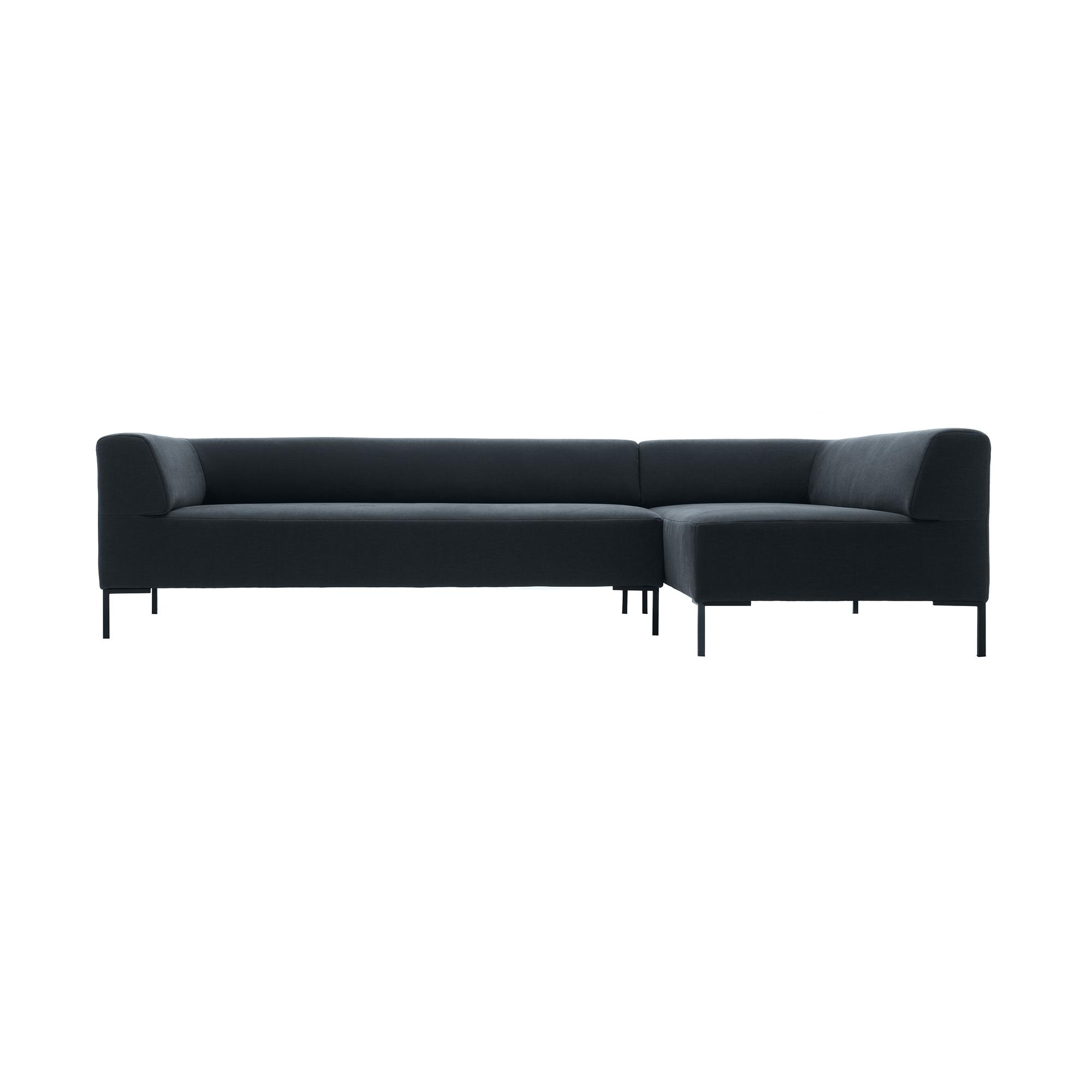 freistil Rolf Benz - freistil 185 - Canapé lounge 257x180cm - anthracite/étoffe 3009 (100% polyester)/PxHxP 257x65x180cm/pieds noir