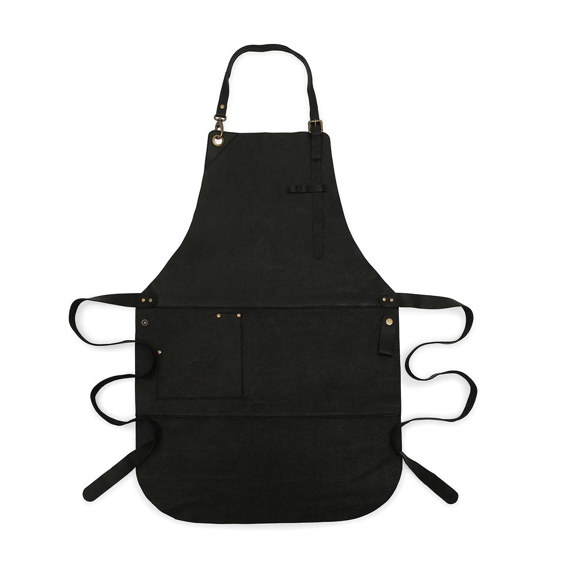 Röshults Apron Leather Küchenschürze - schwarz/1 Tasche | Garten > Balkon > Grill und Zubehör | Schwarz | Rindsleder | Röshults
