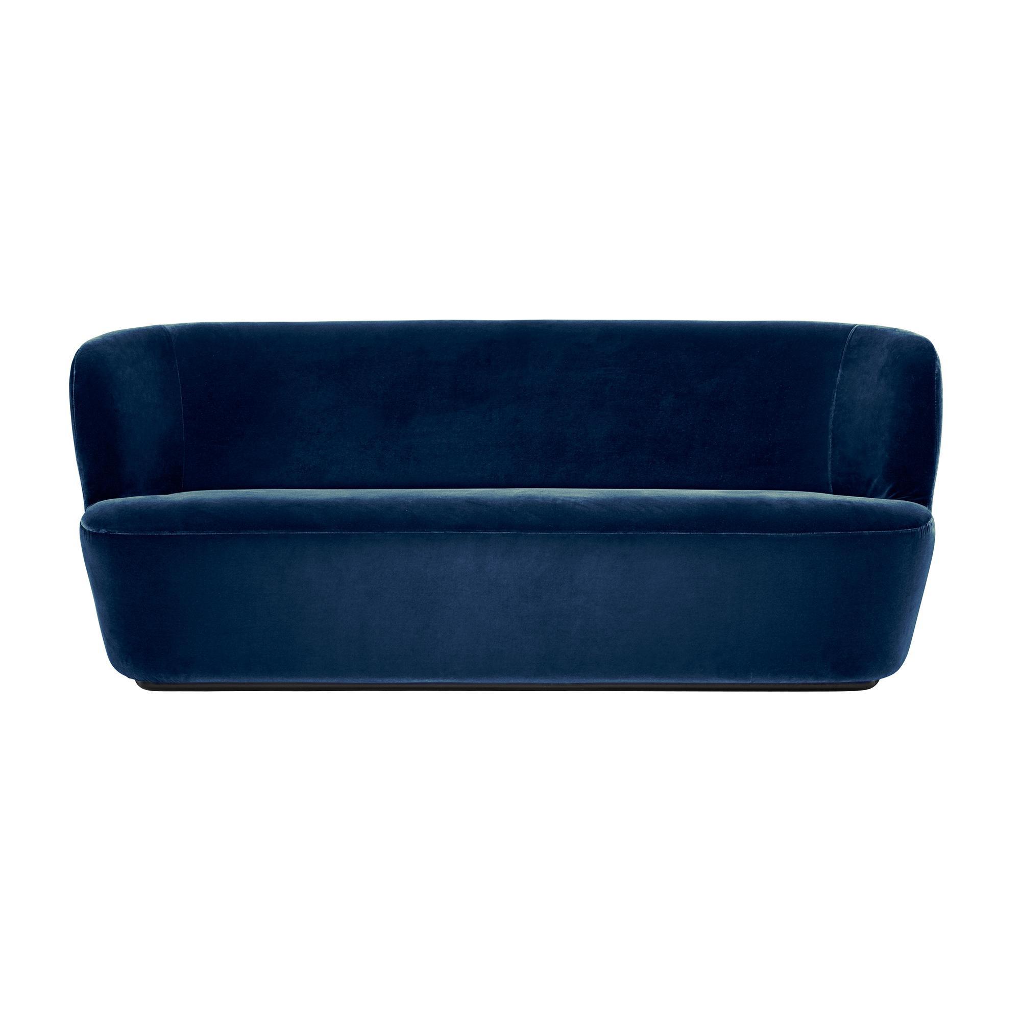 Gubi - Stay - Canapé 2 places - bleu/étoffe Velluto di Cotone 420/PxHxP 190x78x70cm
