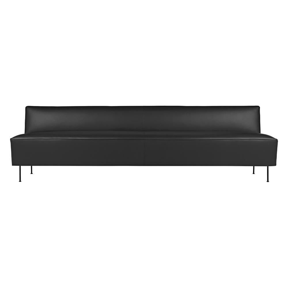 Gubi - Modern Line - Canapé - graphite/Valencia cuir 238-4003/PxHxP 240x70x83cm/pieds noir