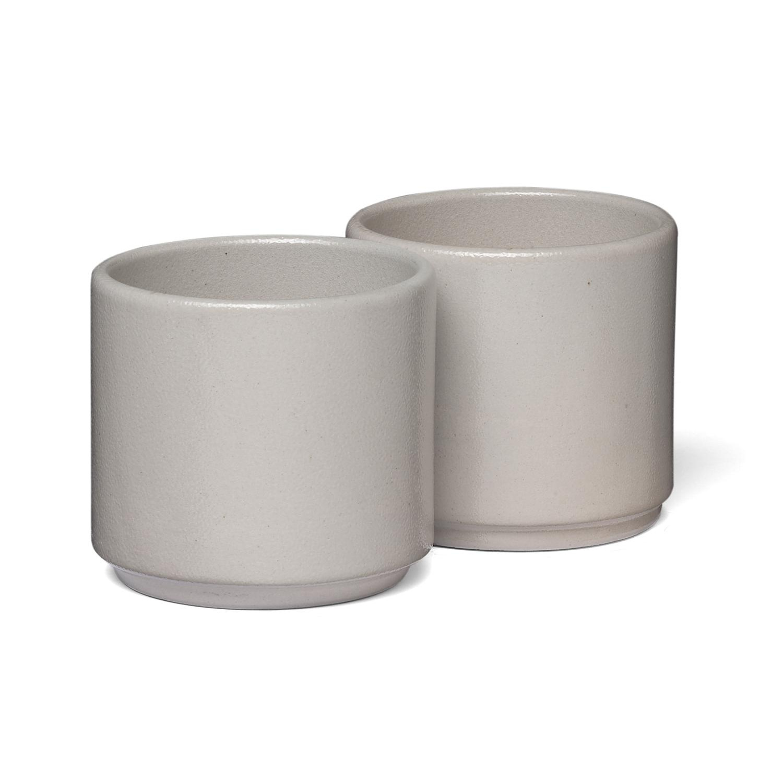e15 AC19 Salina kleiner Becher 2er Set - grau/H:7cm x Ø 8.5cm/200ml | Küche und Esszimmer > Besteck und Geschirr > Gläser | e15