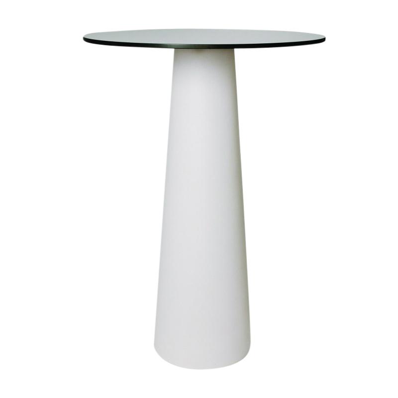 Moooi - Container Tisch rund - weiß/Laminat/Ø 70cm/H100cm | Baumarkt > Bodenbeläge > Laminat | Weiß | Polyethylen| laminat| holz auf anfrage | Moooi