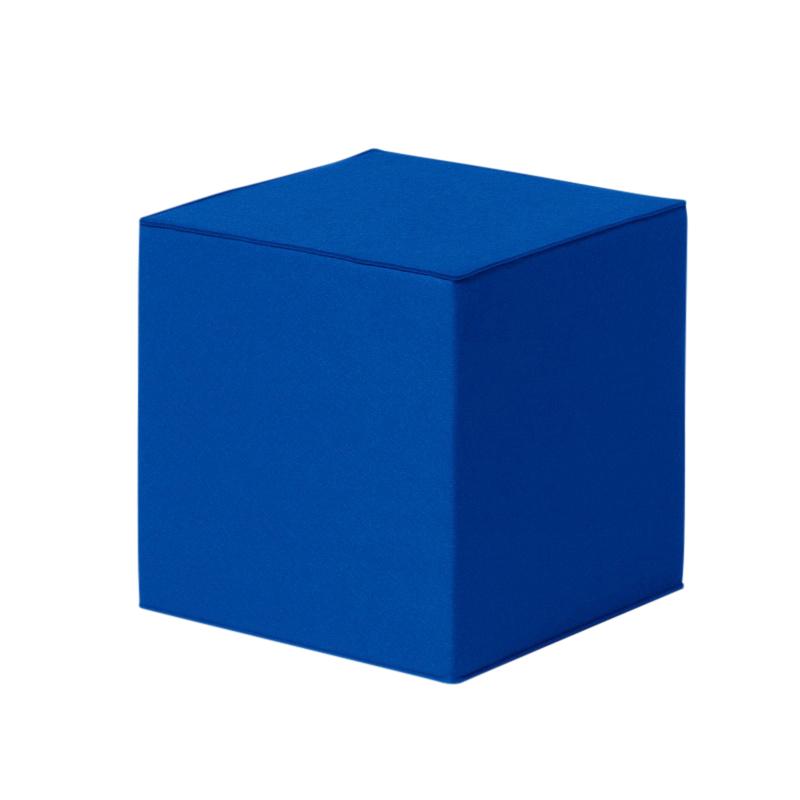 Hey-Sign - Quart Sitzwürfel/ Hocker 40x40cm - blau/Filz/2mm/LxBxH 40x40x40cm | Wohnzimmer > Hocker & Poufs > Sitzwürfel | Hey-Sign