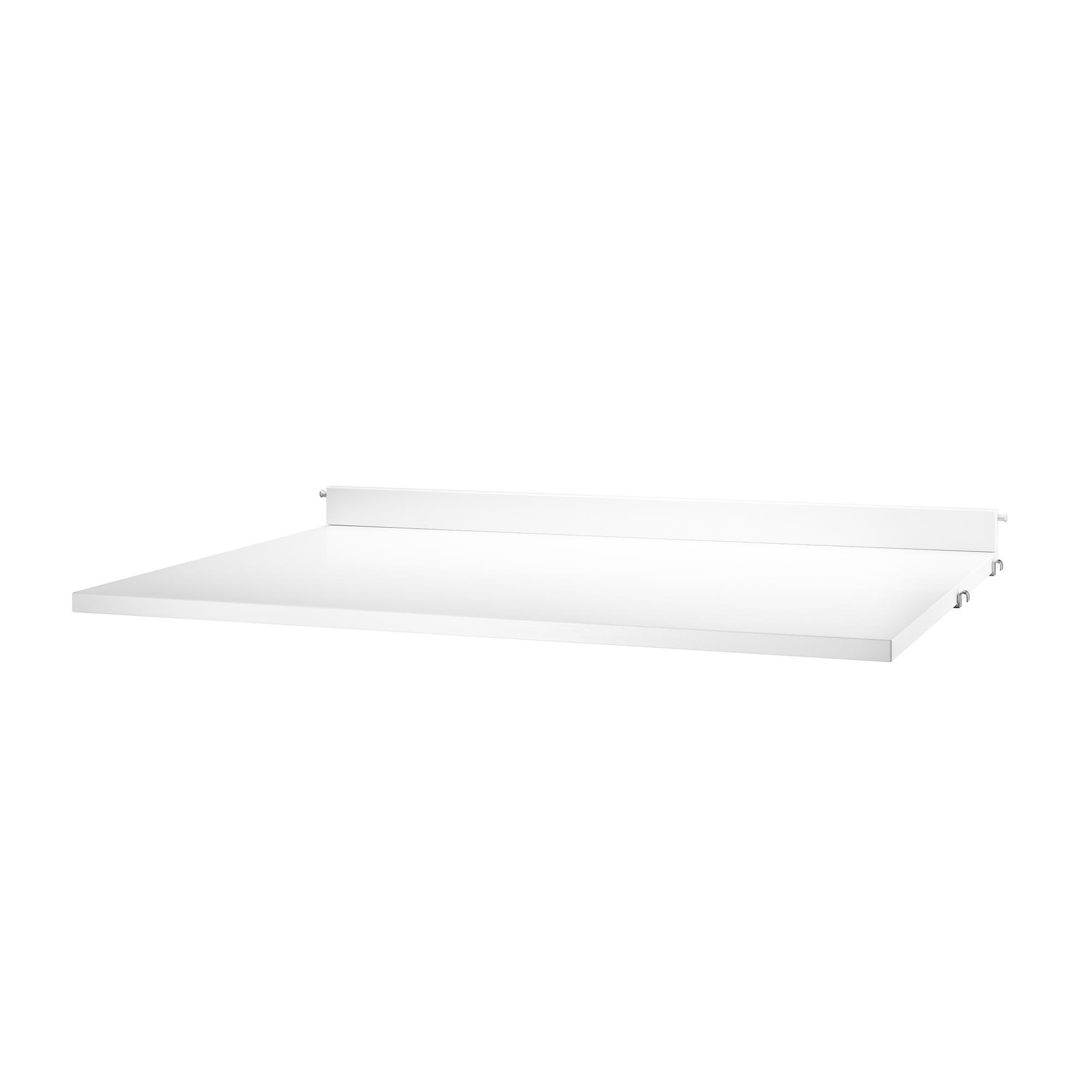 String System Schreibtischplatte - weiß/BxHxT 78x2x58cm | Büro > Bürotische > Bürotische-Zubehör | Weiß | Holz | String