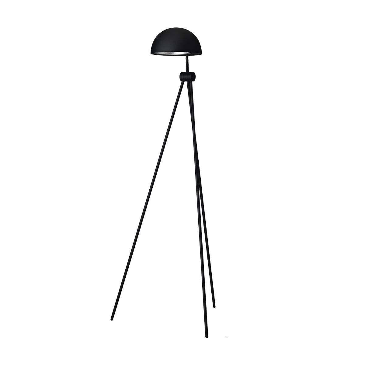Fritz Hansen - Lampadaire Radon™ - noir/mat/H 120cm / Ø 47cm/câble noir