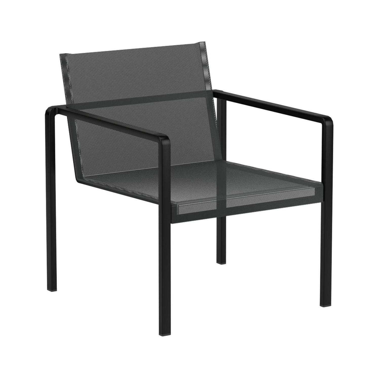 Royal Botania - Alura - Fauteuil de jardin / Lounge Chair - noir/Batyline/PxHxP 64.5x72.5.63.5cm