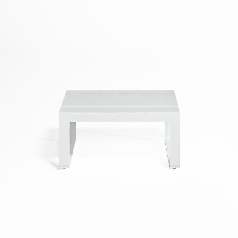 Gandia Blasco - Flat Gartentisch - weiß/BxHxT 80x38x70cm/Gestell Aluminium weiß | Garten > Gartenmöbel > Gartentische | Gandia Blasco