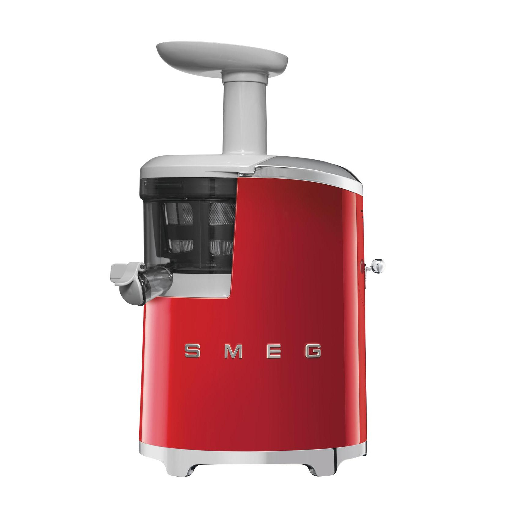Smeg - SJF01 Slow Juicer – Entsafter - rot/mit Rezeptbuch/42x27x17cm | Küche und Esszimmer > Küchengeräte > Entsafter | Rot | Edelstahl| kunststoff | Smeg