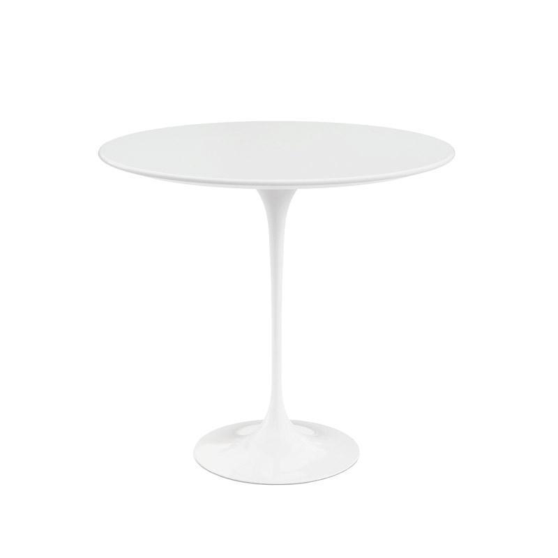 Knoll International - Saarinen Beistelltisch Ø 41cm - weiß/Laminat/Gestell weiß/H: 52cm/ Ø 41cm | Baumarkt > Bodenbeläge > Laminat | Knoll International