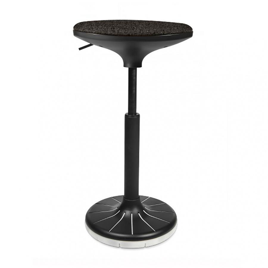 Wagner - W3 - Tabouret 3D - noir/blanc/siège étoffe BV0 noir/PxP 38x32cm/H 57-79cm/patins incl./structure noire/ plante du pied blanc
