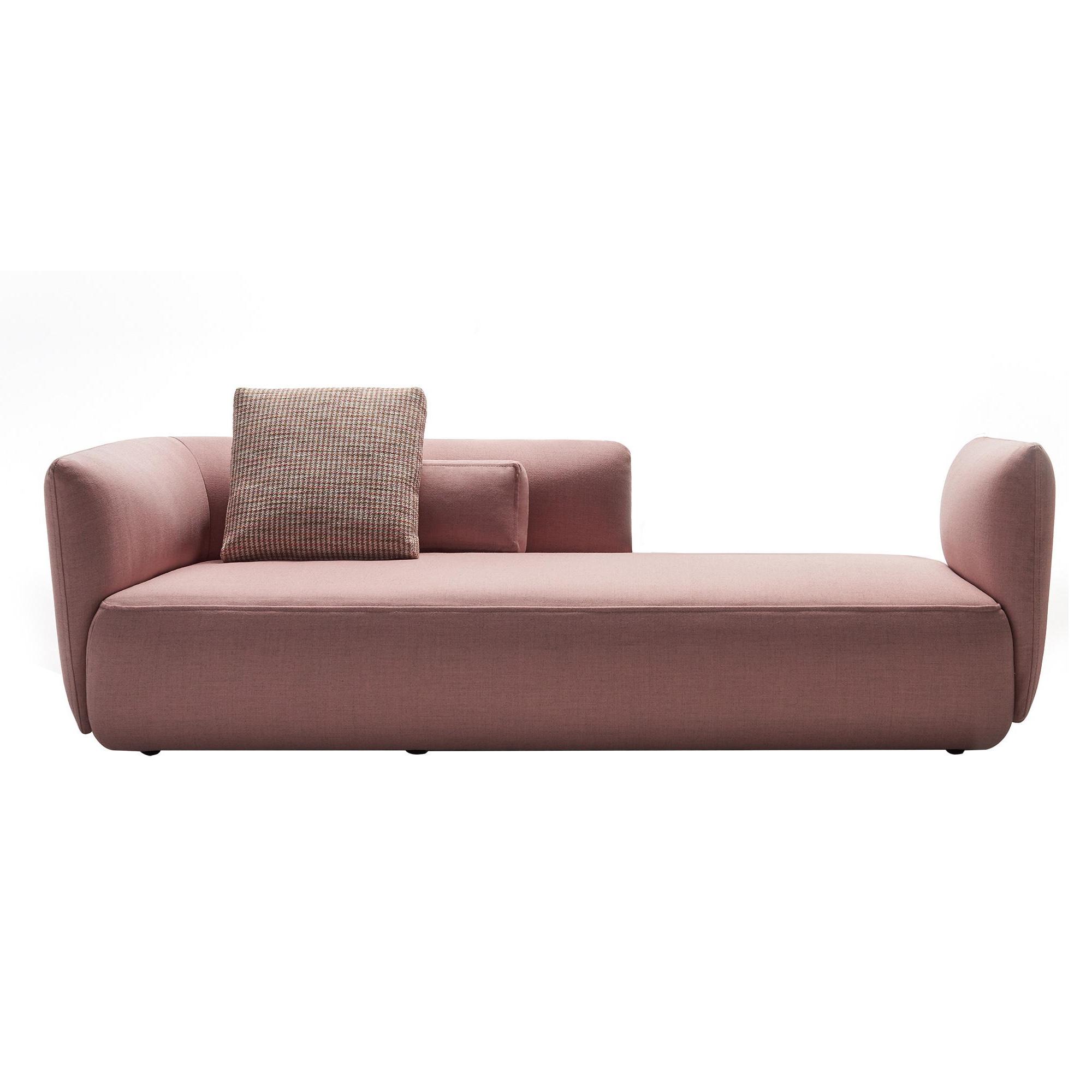 MDF Italia - Cosy Paolina - Canapé - poudre rose/étoffe Perth R463 Col. 06/PxHxP 230x70x95cm/sans coussins décoratifs