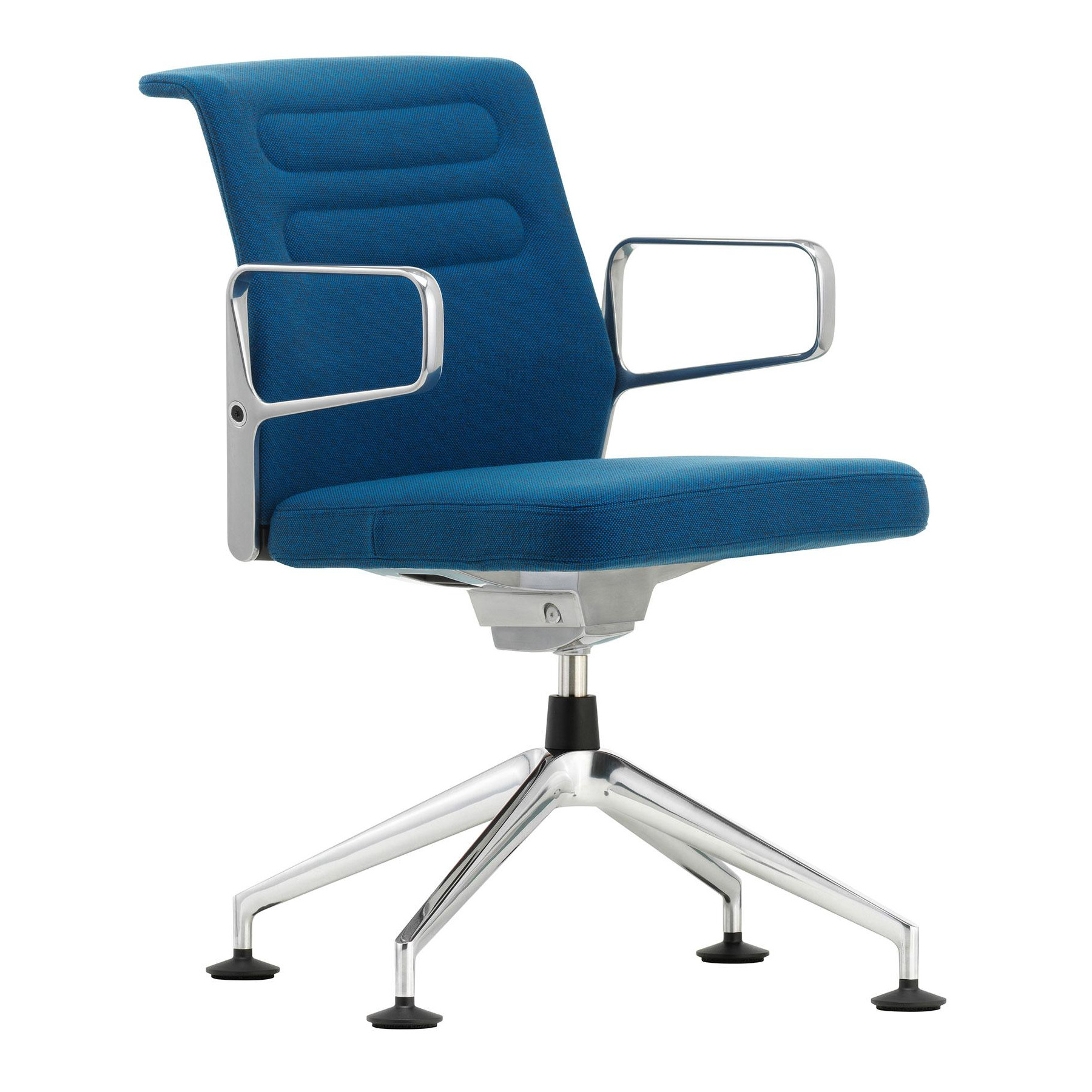 Vitra - AC 5 Meet Konferenzstuhl - blau / moorbraun/Stoff Hopsak 84/BxHxT 74x85x74cm/Gestell Aluminium poliert   Büro > Bürostühle und Sessel  > Konferenzstühle   Vitra