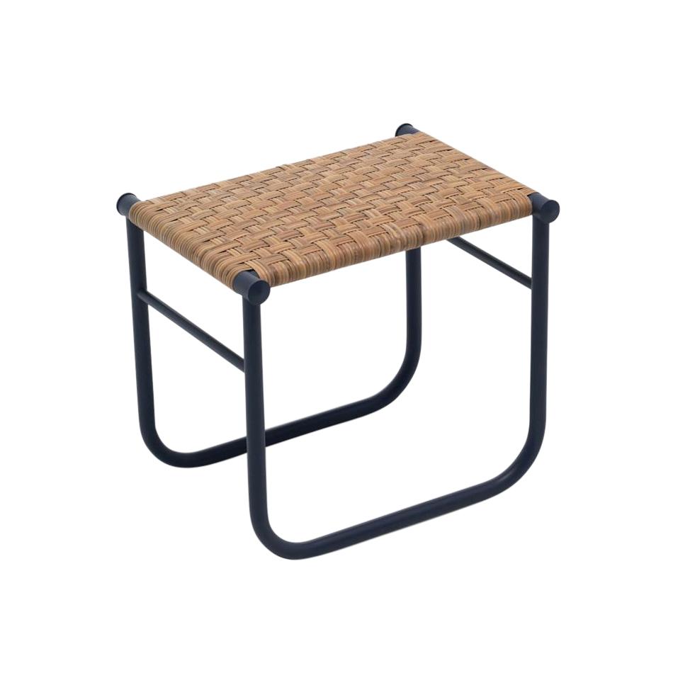 Cassina - Le Corbusier LC9 Badhocker - natur/Rattan/LxBxH 36x50x45cm/Gestell grau glänzend lackiert | Bad > Badmöbel > Bad- & Dusch-Hocker | Cassina