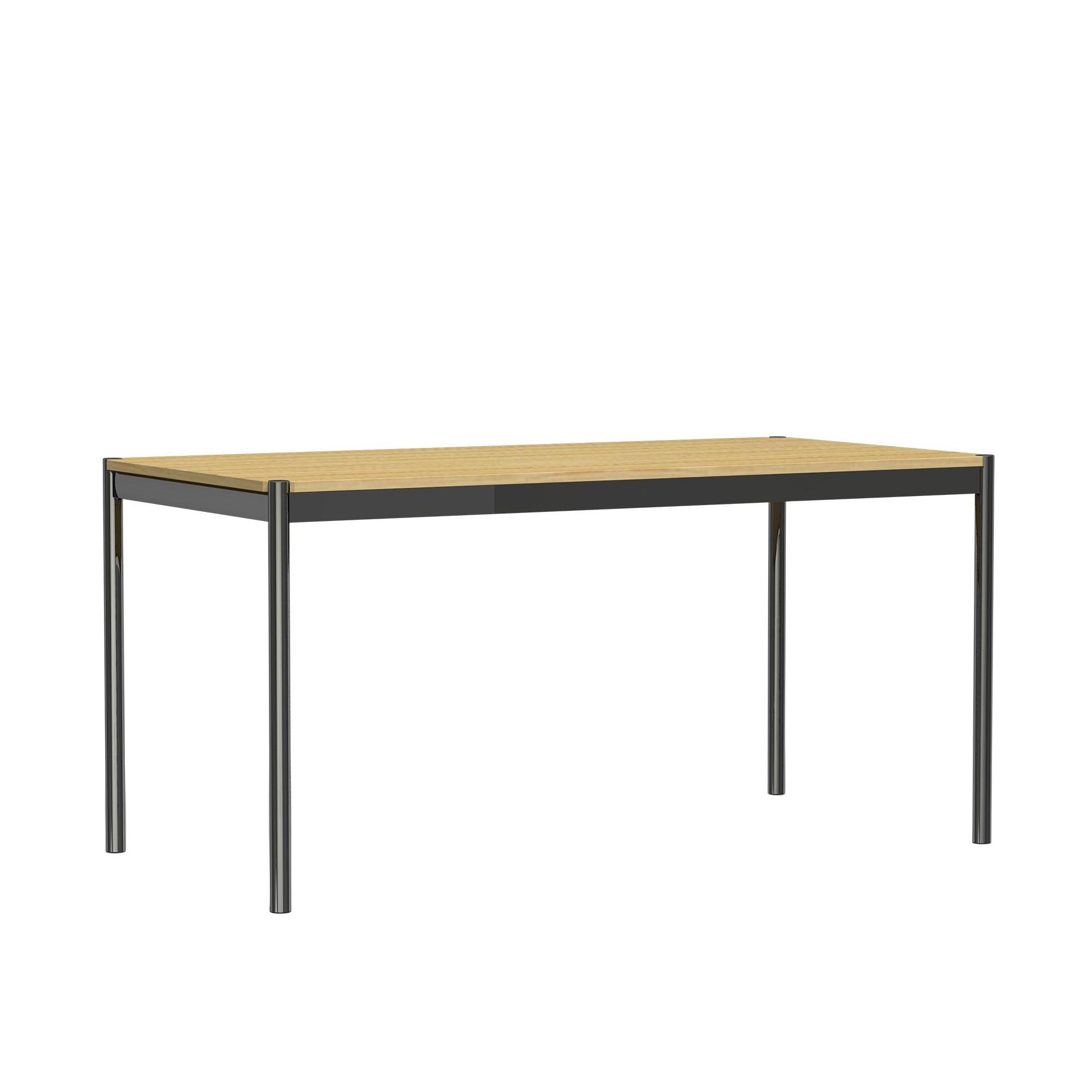USM Haller Tisch 175x75cm natur 07 Eiche furniert lackiert LxBxH 175x75x74cm Gestell Stahl verchromt