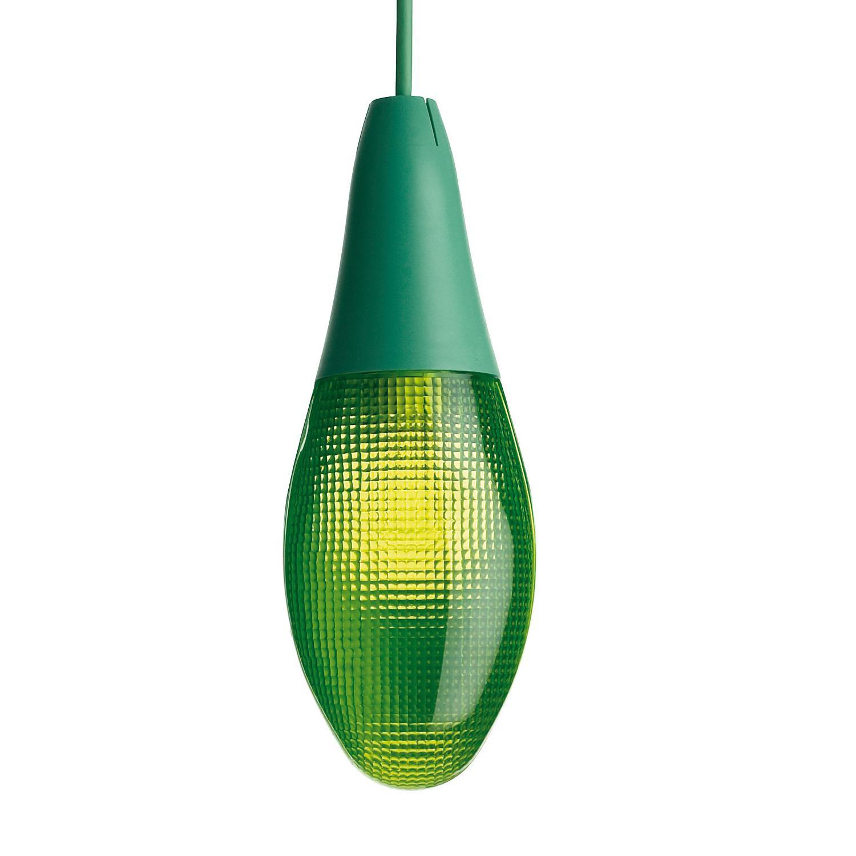 Luceplan - Pod Lens D30 Gartenleuchte - salbeigrün/Polycarbonat/H 28|5cm / Ø 10|5cm/Kabel grün | Lampen > Aussenlampen > Gartenleuchten | Luceplan