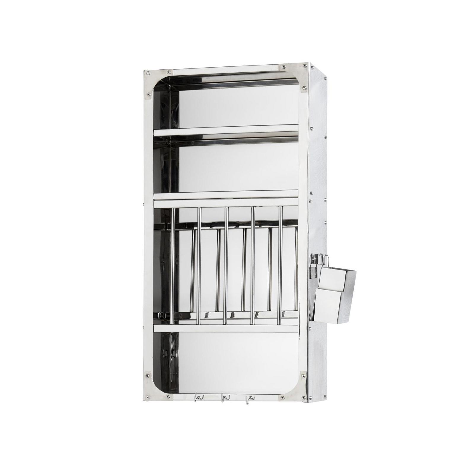 HAY - Indian Plate Rack Küchenregal M - edelstahl/BxHxT 40x78|5x24cm | Küche und Esszimmer > Küchenregale > Küchen-Standregale | HAY