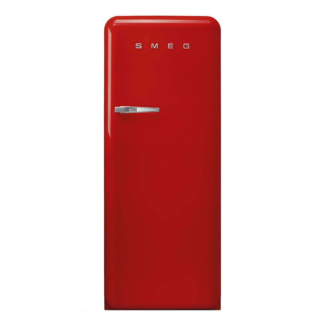 Smeg - FAB28 Standkühlschrank - rot/lackiert/LIFE PLUS 0°C-ZONE/Rechtsanschlag/BxHxT 60x150x78|8cm/höhenverstellbar | Küche und Esszimmer > Küchenelektrogeräte > Kühlschränke | Rot | Metall| kunststoff | Smeg