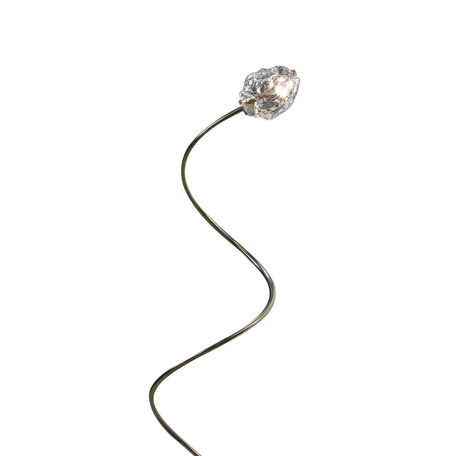 Catellani & Smith - More Außenstehleuchte H 100cm - transparent/Stab grün gold/Schirm H10cm x Ø7cm/Fuß Eisen schwarz/1x LED G4 12V DC IP65 1|5W | Lampen > Aussenlampen > Gartenleuchten | Catellani & Smith