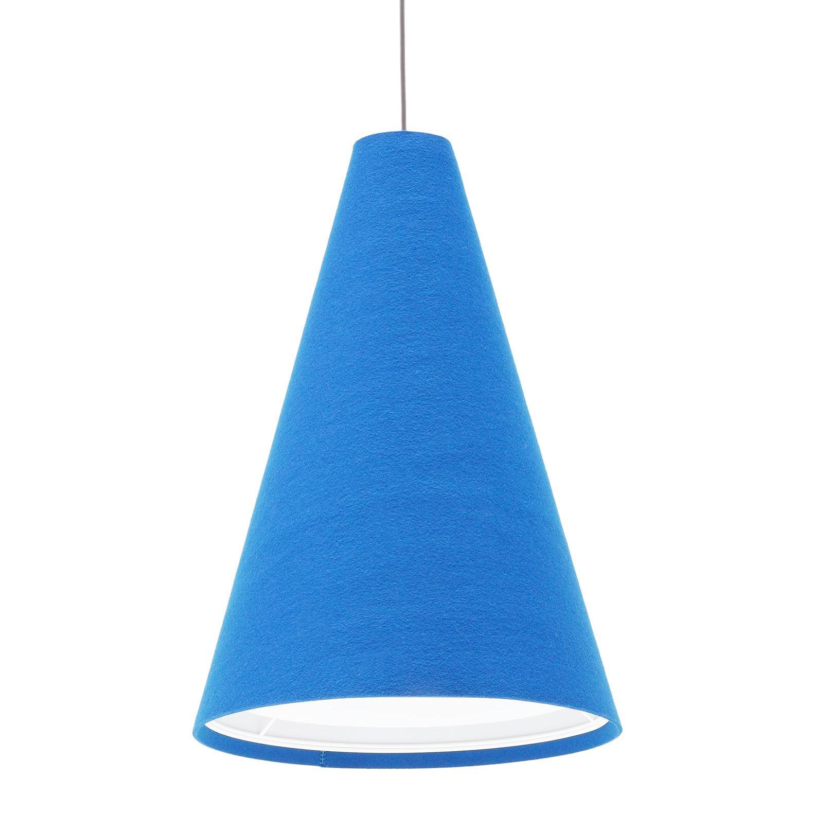 Hey-Sign - Hey-Light S - Suspension - bleu pétrole/feutre/3mm/H 50cm / Ø 36cm