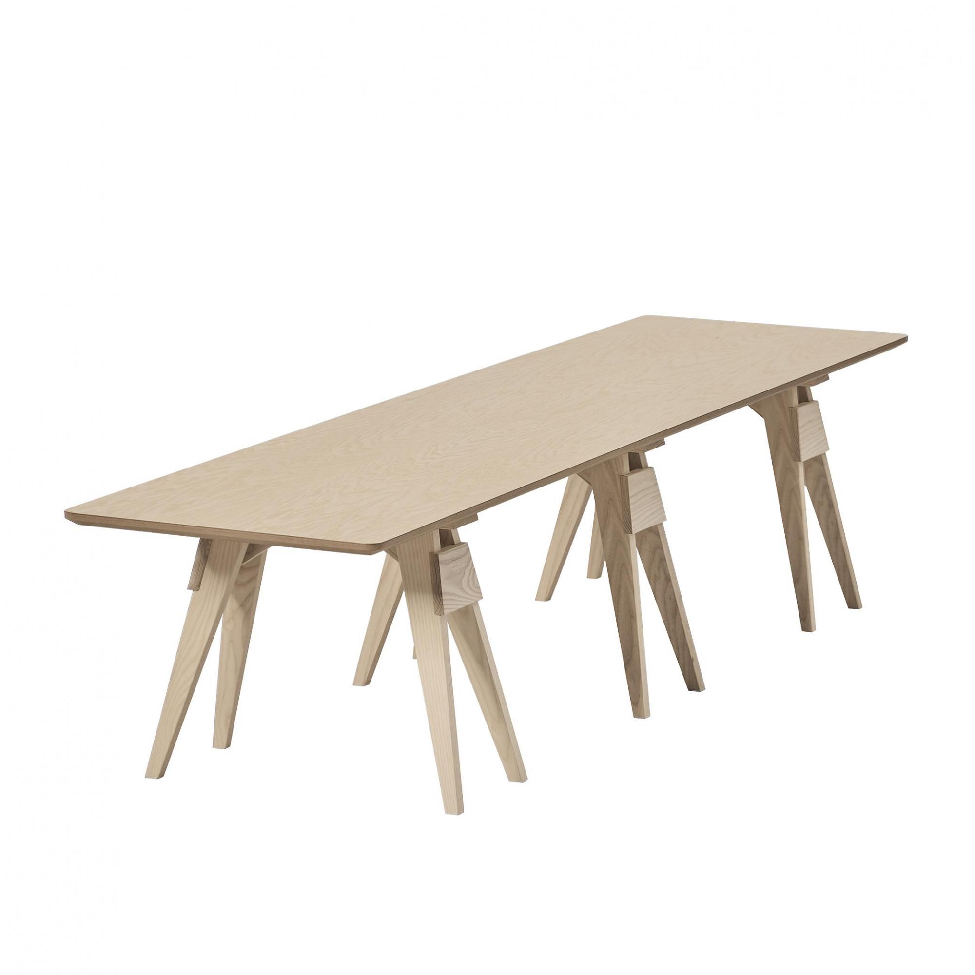 DesignHouseStockholm - Arco Couchtisch 182x42x40cm - eiche/Tischplatte 2cm/Gestell lackiert | Wohnzimmer > Tische > Couchtische | Eiche | Massivholz | DesignHouseStockholm