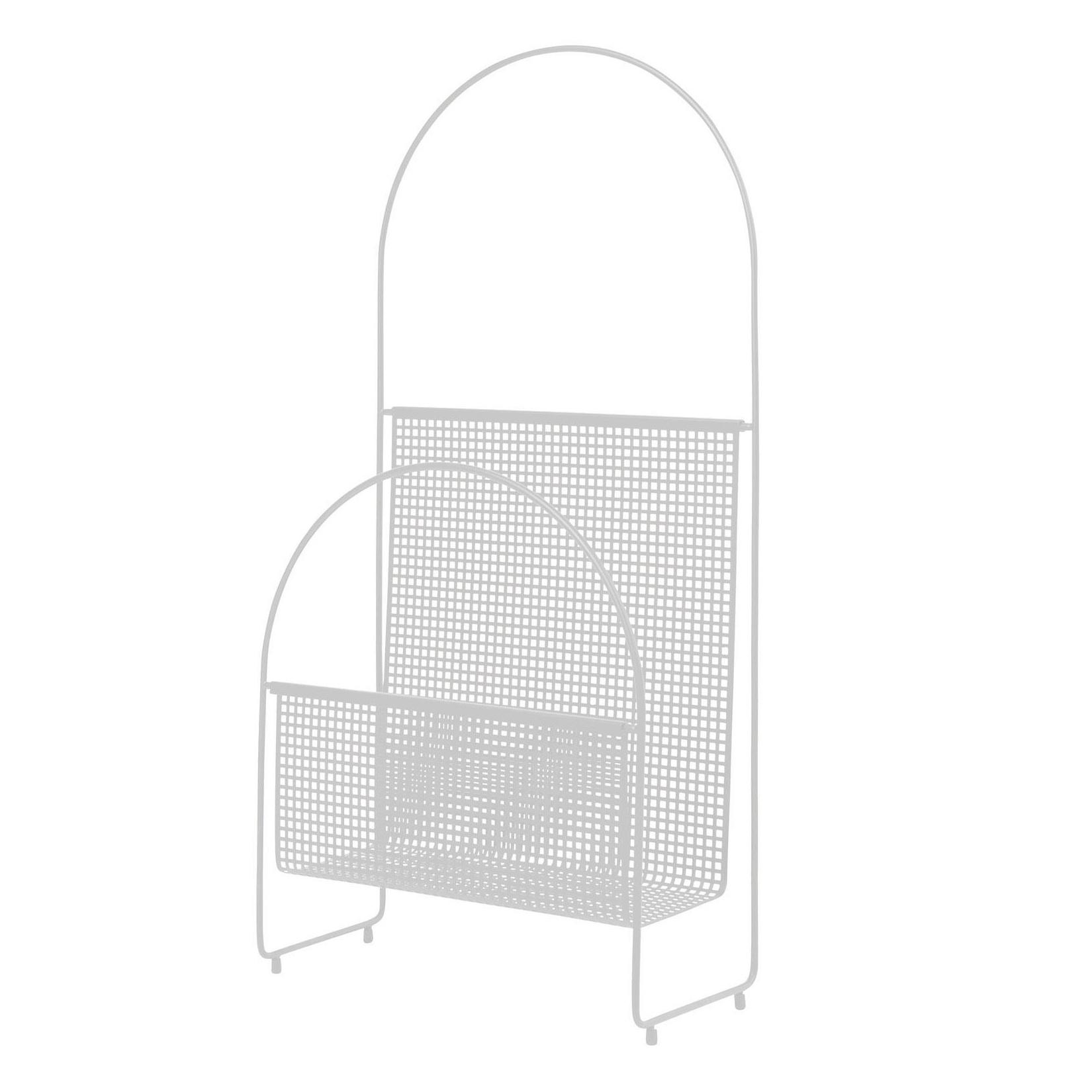 OK Design - Nouvelle Zeitschriftenständer - weiß/pulverbeschichtet/BxHxT 35|1x71|7x16|6cm | Dekoration > Aufbewahrung und Ordnung | OK Design