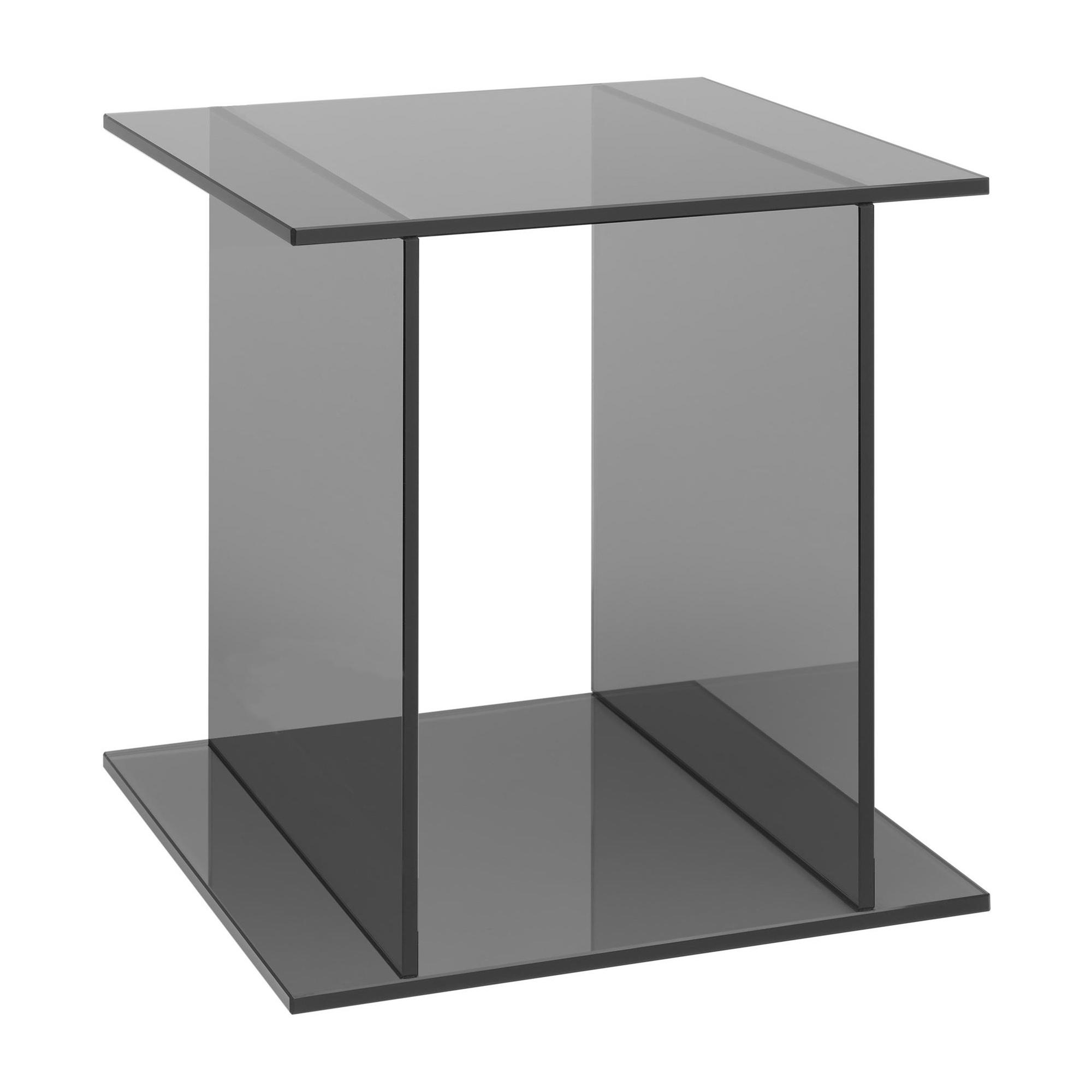 e15 - Table d'appoint Drei - gris/LxPxH 40x40x40cm