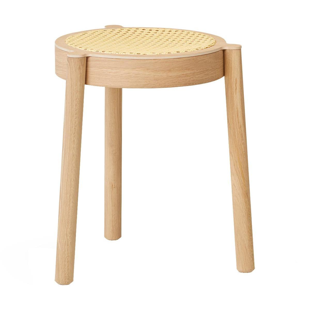 Northern - Pal Hocker Rohgeflecht - natur/Eiche leicht geölt/Sitzfläche Rohgeflecht/H 46cm / Ø 37cm | Wohnzimmer > Hocker & Poufs > Sitzhocker | Northern
