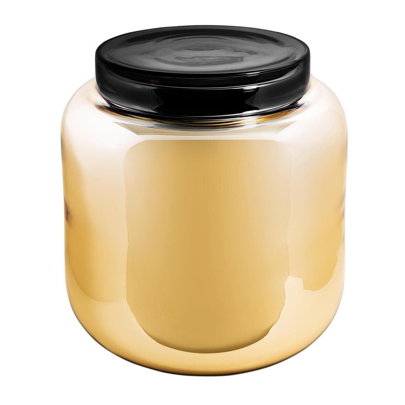 pulpo - Container - Table d'appoint - orange/argenté/couverture noir/H 40cm/Ø 39cm