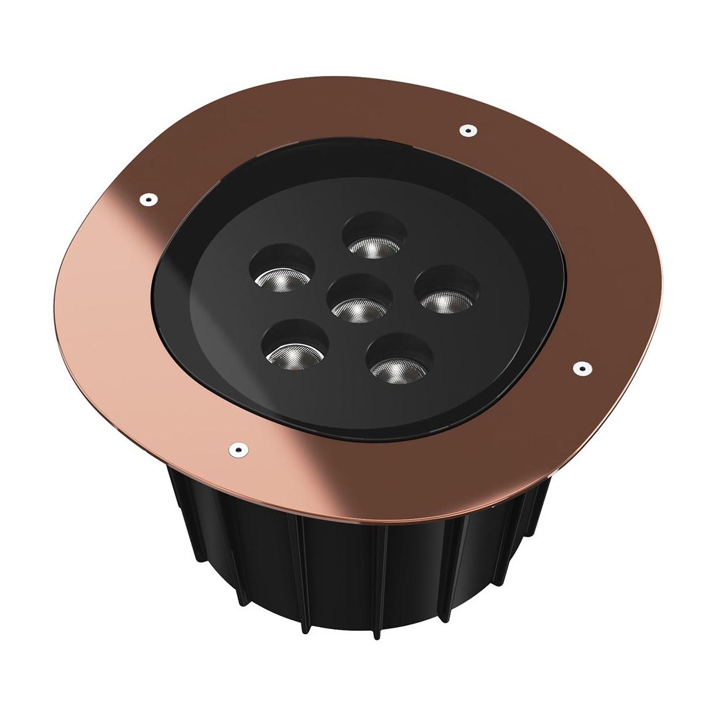 Flos - A-Round 315 LED Außenbodenleuchte 25° - kupfer/poliert/Abstrahlwinkel 25°/Ø 31|5cm/H 21|5cm/inkl. Transformator/LED 42W 3432lm 2700K CRI8 | Lampen > Aussenlampen > Bodeneinbauleuchten | Flos