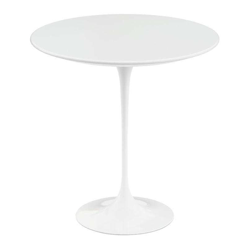Knoll International - Saarinen Beistelltisch Ø 51cm - weiß/Laminat/Gestell weiß/Ø 51cm/ H: 52cm | Baumarkt > Bodenbeläge > Laminat | Weiß | Leichtmetallguss| marmor oder laminat | Knoll International