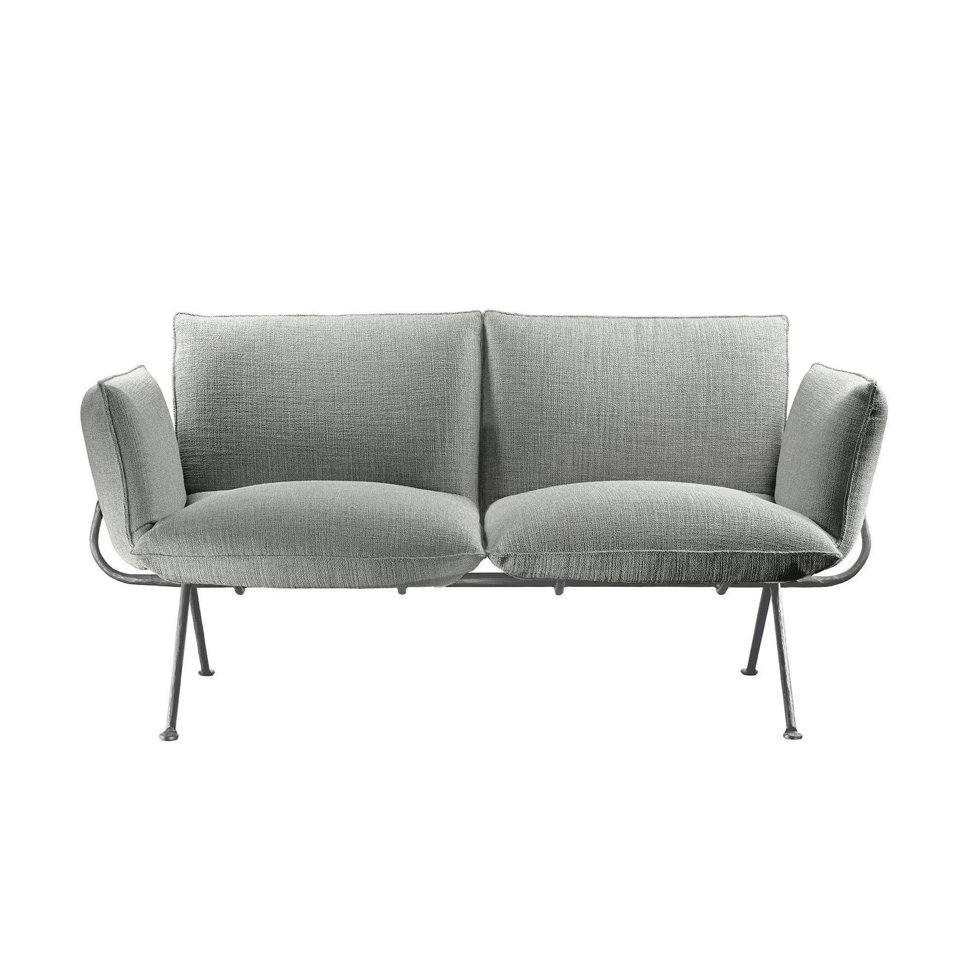 Magis - Canapé de 2 places Officina - gris/PxHxP 151x70,5x77cm/structure galvanisé