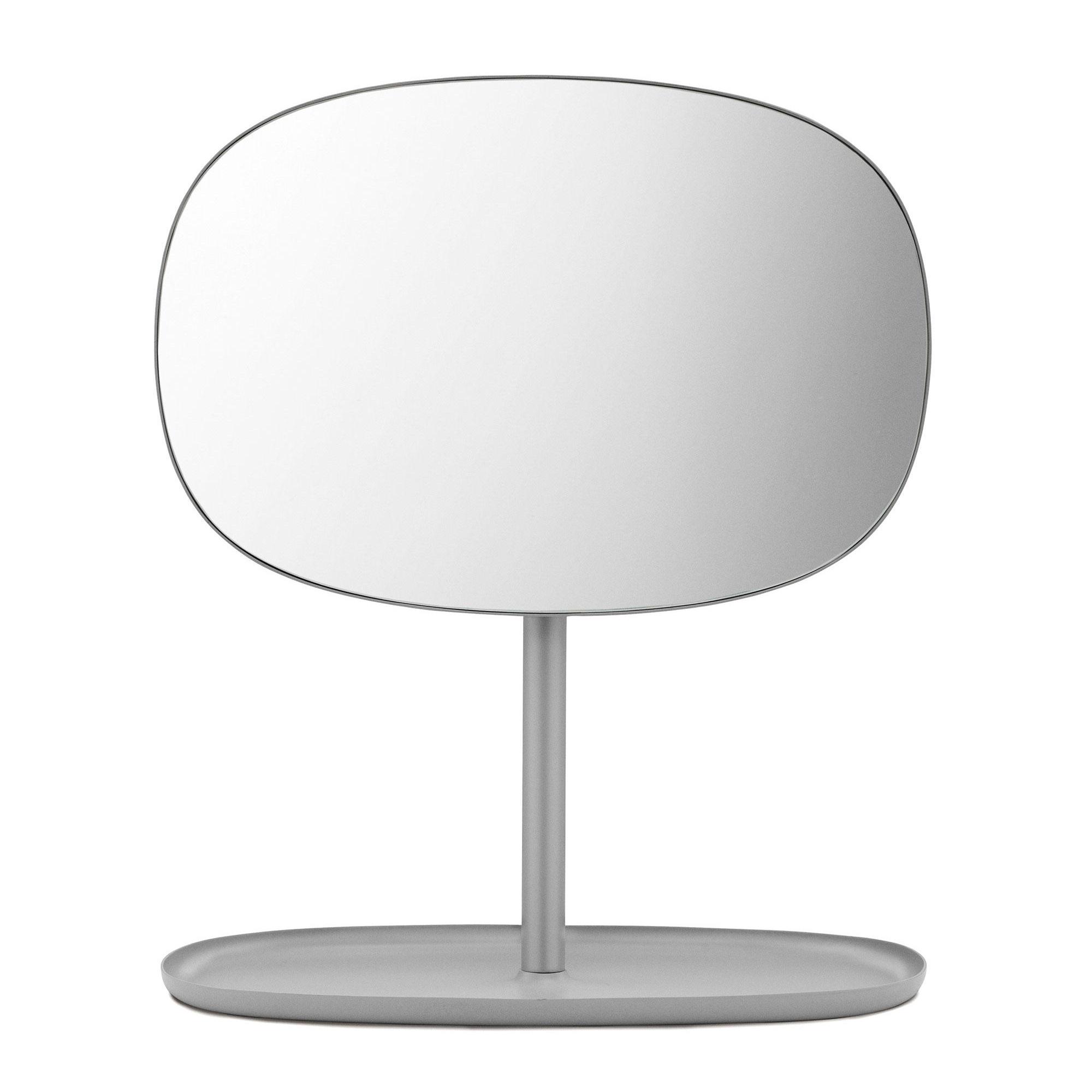 Normann Copenhagen - Flip Kosmetikspiegel - grau/BxHxT 28x34|5x19|5cm | Bad > Bad-Accessoires > Kosmetikspiegel | Grau | Stahl| spiegelglas | Normann Copenhagen