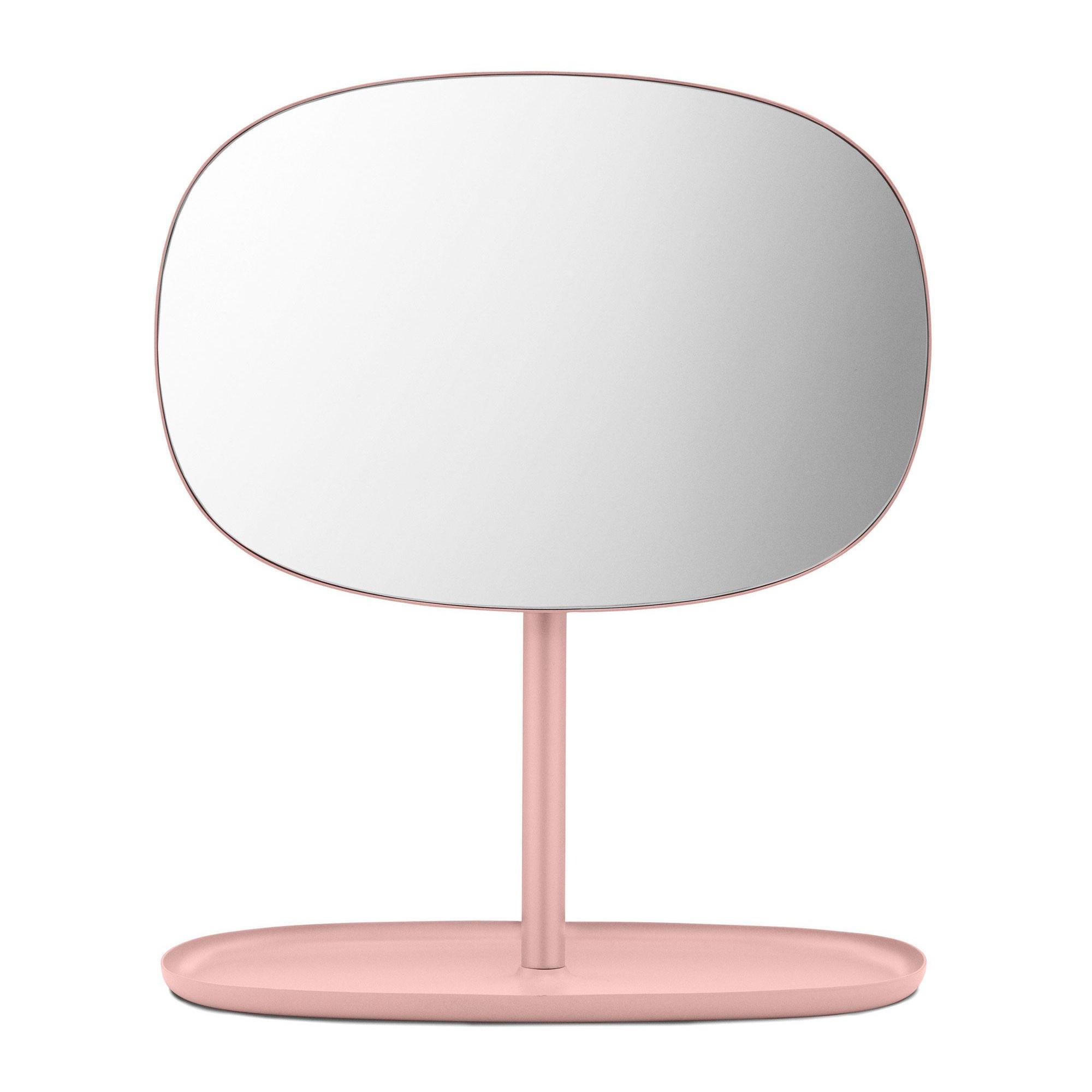 Normann Copenhagen - Flip Kosmetikspiegel - blush/BxHxT 28x34|5x19|5cm | Bad > Bad-Accessoires > Kosmetikspiegel | Blush | Stahl| spiegelglas | Normann Copenhagen