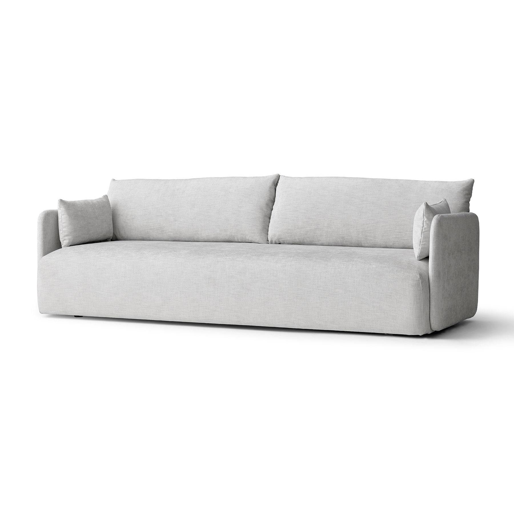 Menu - Sofa 3 places Offset - clair gris/tissu Maple 222/PxHxP 224.3x65.5x90cm/structure revêtu par poudre