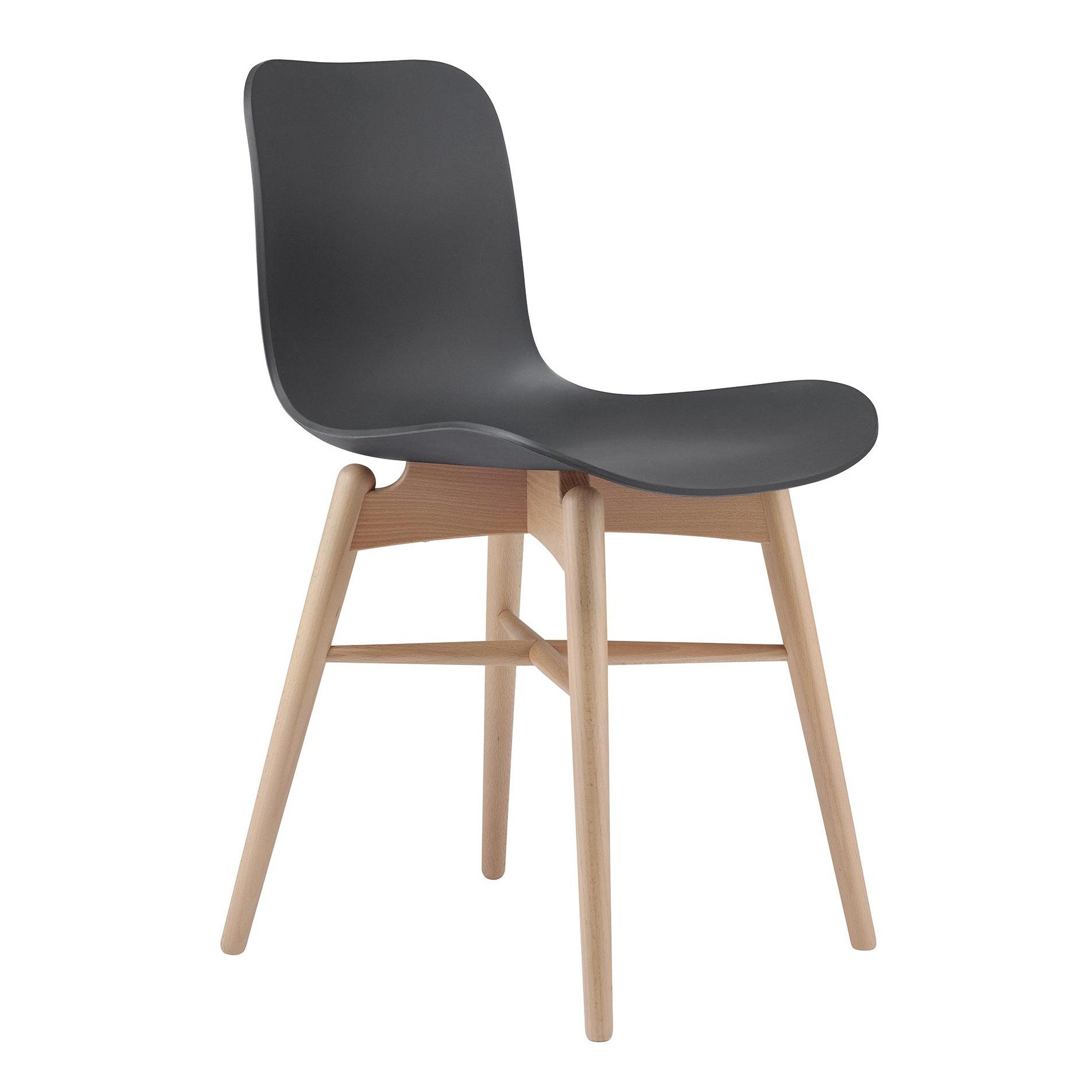 NORR 11 Langue Original Stuhl Gestell Buche Natur anthrazit schwarzSitzschale PolypropylenGestell Buche naturBxHxT 50x78x51cm