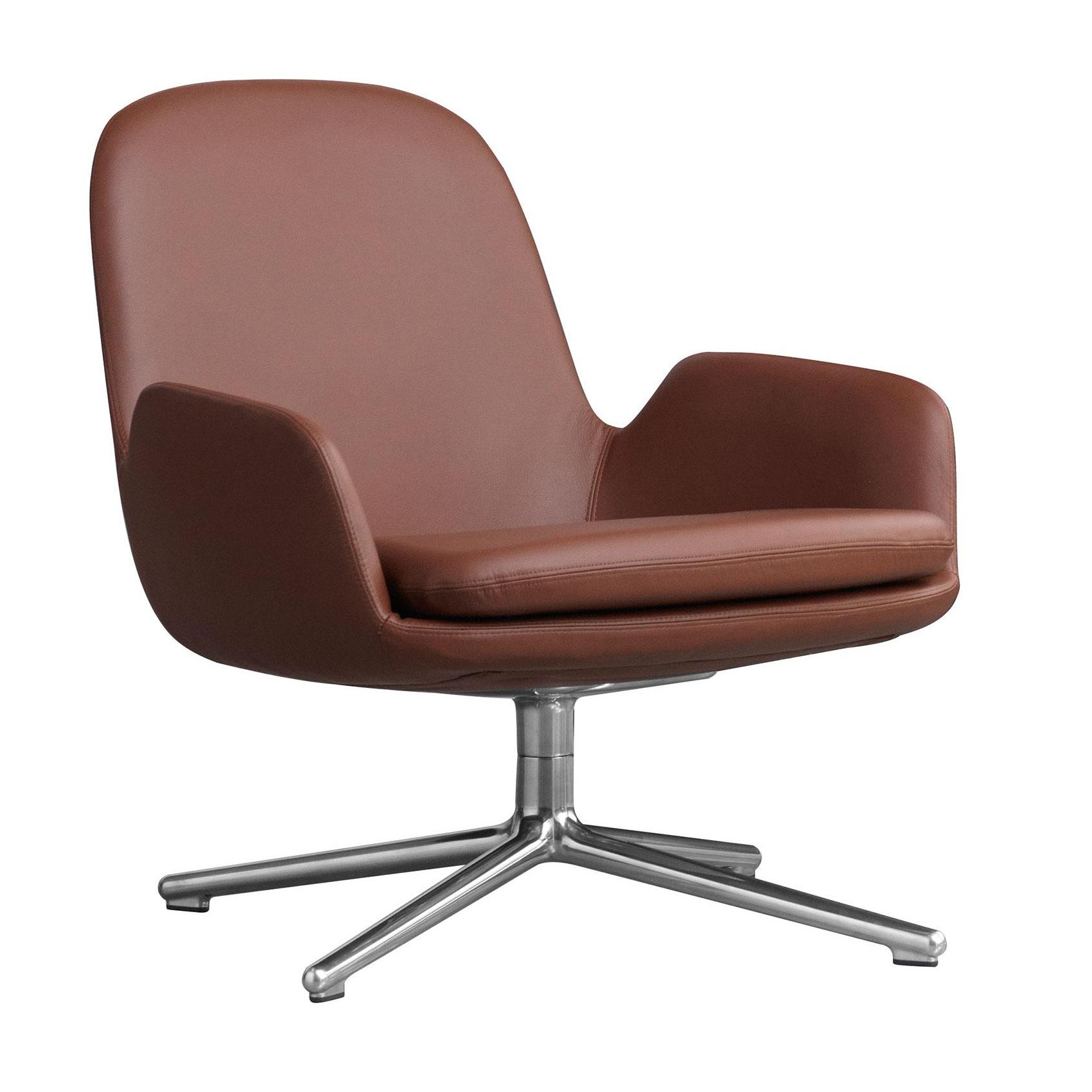 Normann Copenhagen Era Lounge Chair Low Drehstuhl Leder Alu Brandy Braun Leder Gestell Aluminium H X B X T 77 X 83 X 83 Cm Moebel Suchmaschine Ladendirekt De
