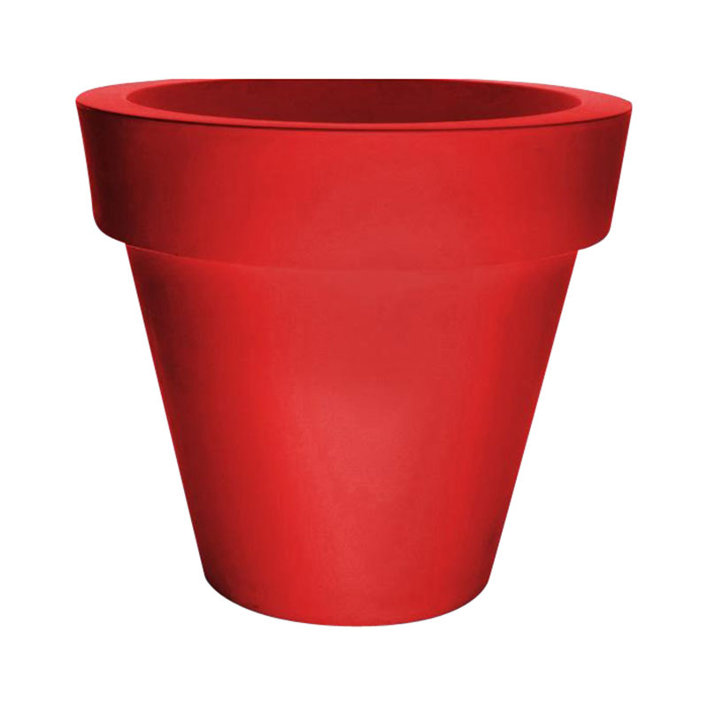 Serralunga - Vas One Blumentopf Ø 160cm - rot / ØxH 160x150cm/Kunststoff/H 150cm / Ø 160cm | Garten > Pflanzen > Blumentöpfe | Serralunga