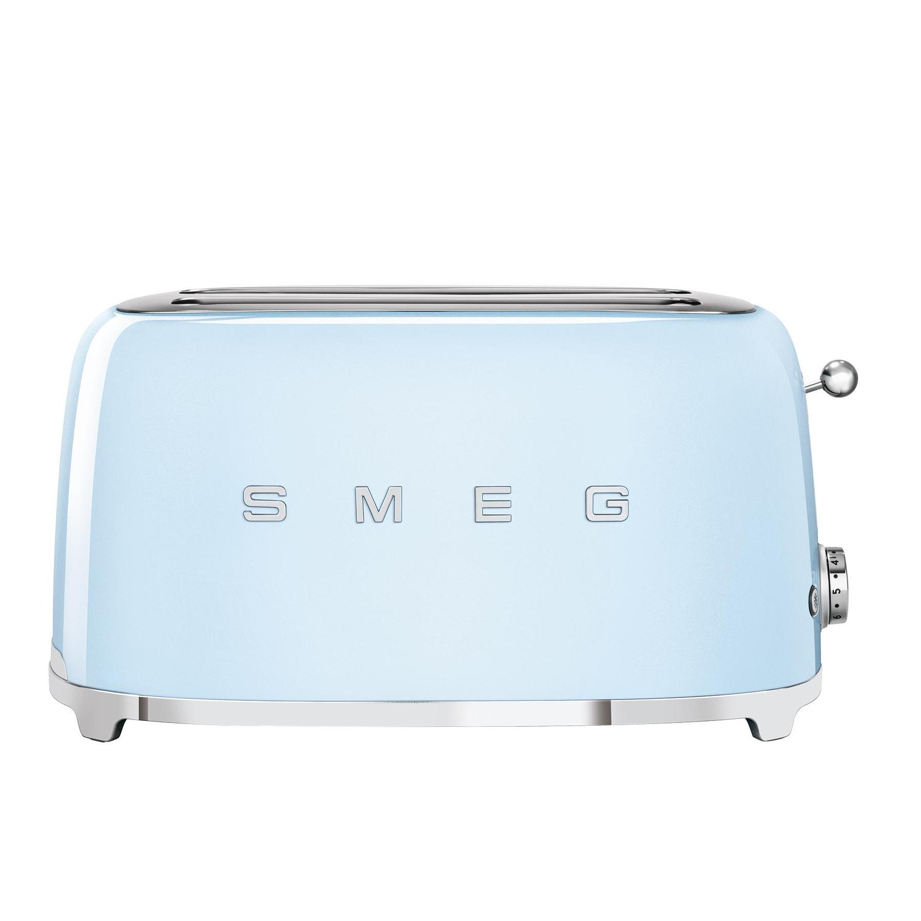 Smeg - TSF02 4-Scheiben Toaster - hellblau/pastellblau/lackiert/BxHxT 41x20|8x21|5cm/6 Röstgradstufen/1500W | Küche und Esszimmer > Küchengeräte > Toaster | Smeg