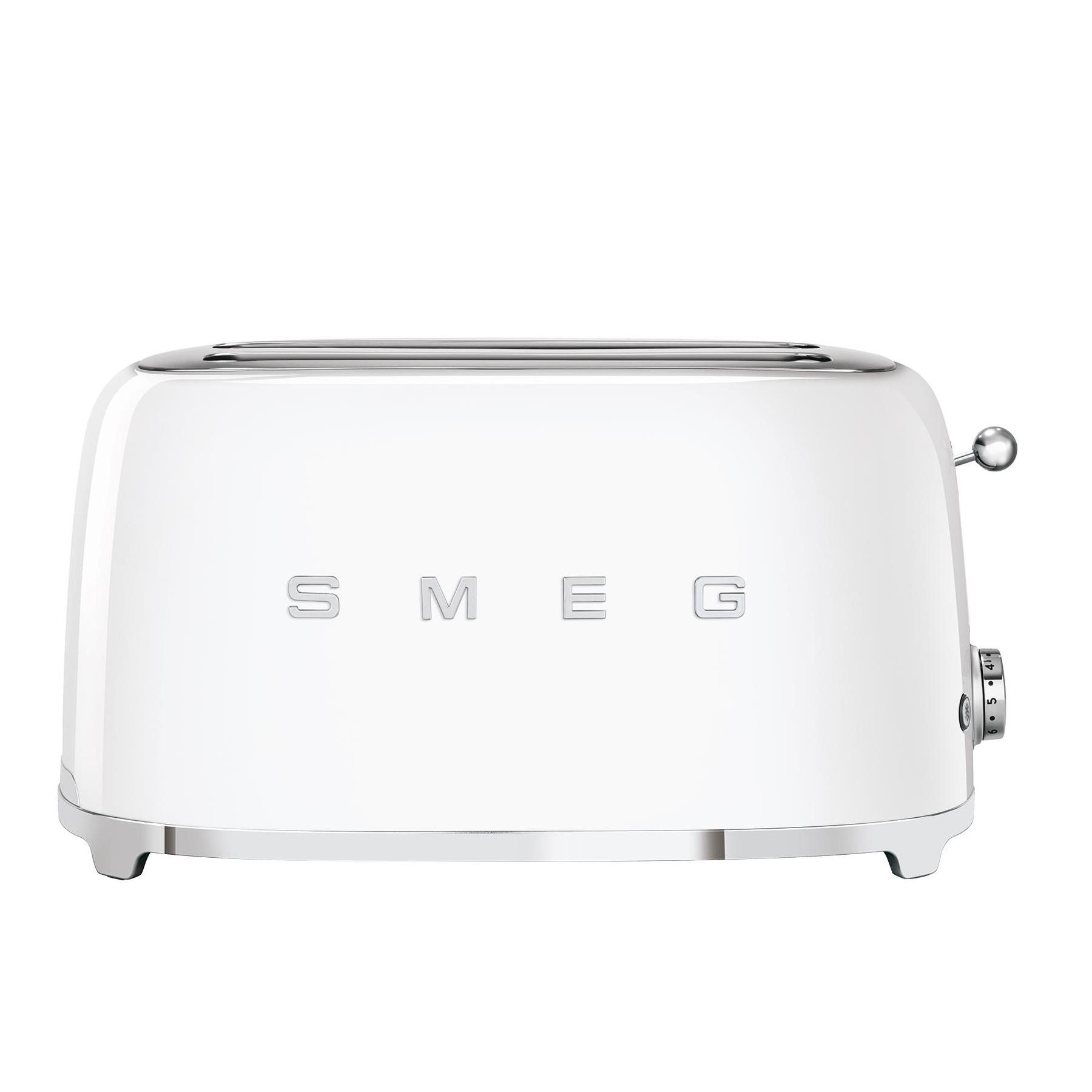 Smeg - TSF02 4-Scheiben Toaster - weiß/lackiert/BxHxT 41x20|8x21|5cm/6 Röstgradstufen/1500W | Küche und Esszimmer > Küchengeräte > Toaster | Weiß | Metall | Smeg