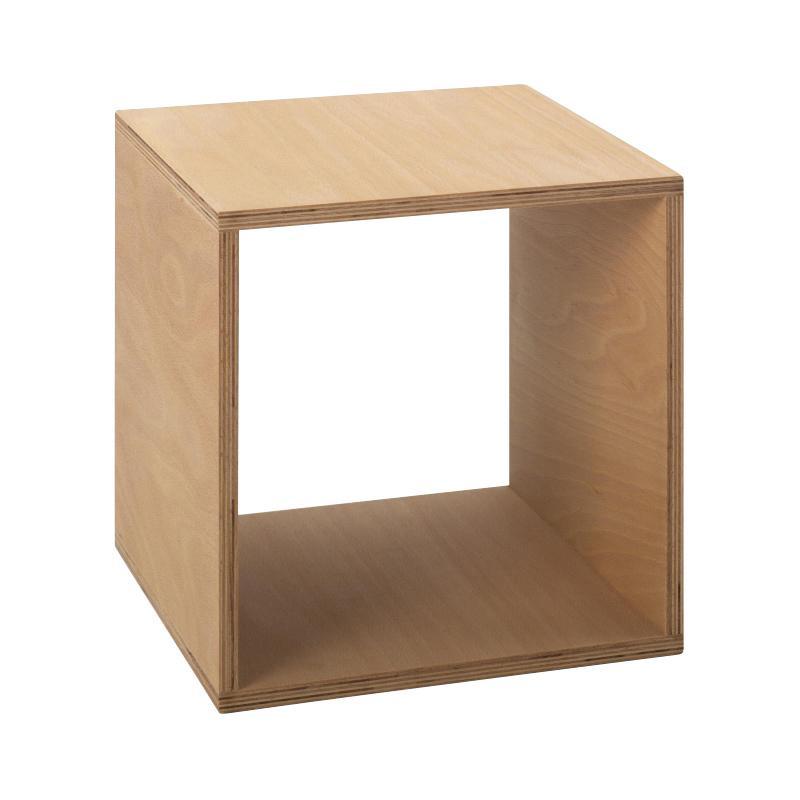 Tojo - Cube Nachttisch 35x35 cm - buche/geölt/LxBxH 35x35x35cm | Schlafzimmer > Nachttische | Buche | Multiplex buche | Tojo