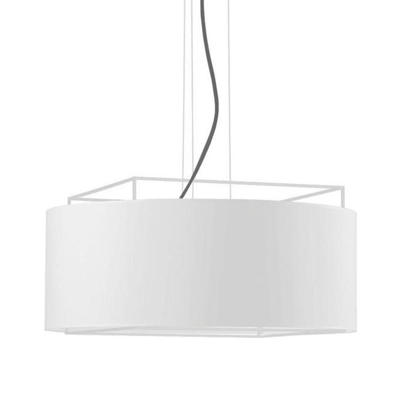 Metalarte - Suspension Lewit t Me - blanc/intérieur blanc opalux/abat-jour carton/CE/IP20/H 30cm/Ø 65cm/baldaquin blanc Ø12cm/structure métal bl